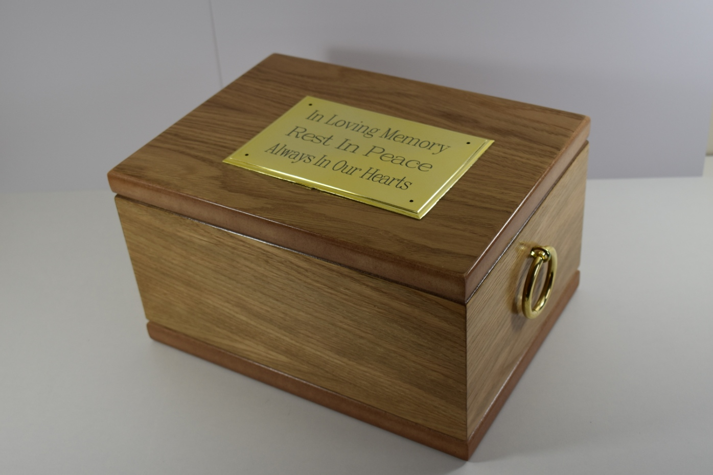 Balmoral Oak Veneered Ashes Casket