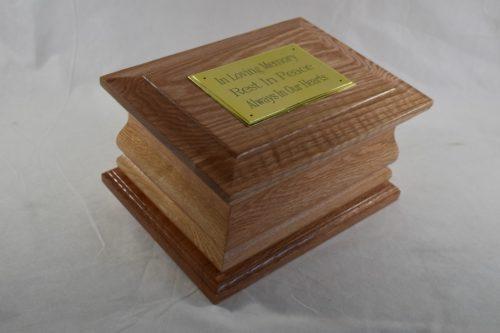 Solid moulded oak casket