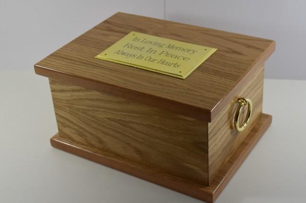 Windsor Oak Veneered Ashes Casket